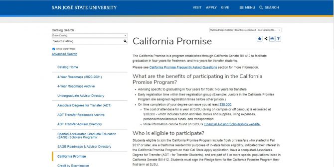 California Promise - San José State University