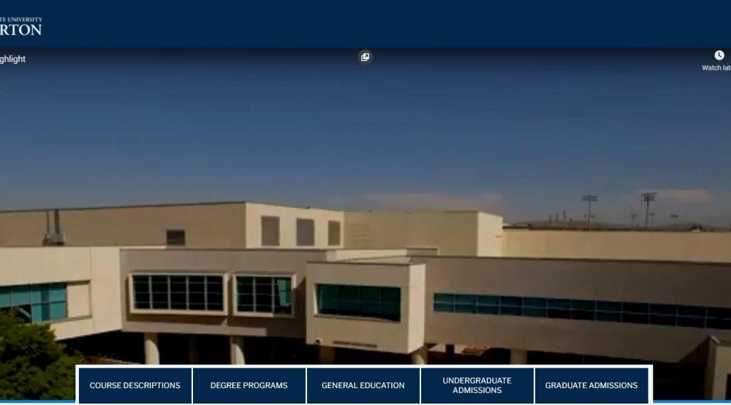 California State University Fullerton - Acalog ACMS