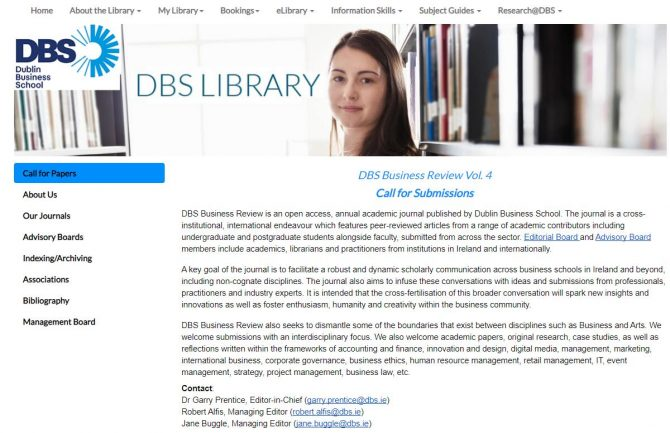 Call for Papers - DBS Library Press
