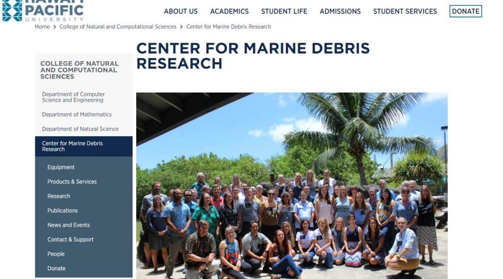 HPU Center for Marine Debris Research